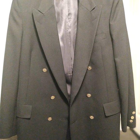 Christian Dior navy blue black suit blazer